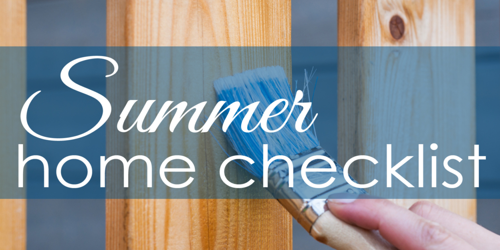 summer home checklist
