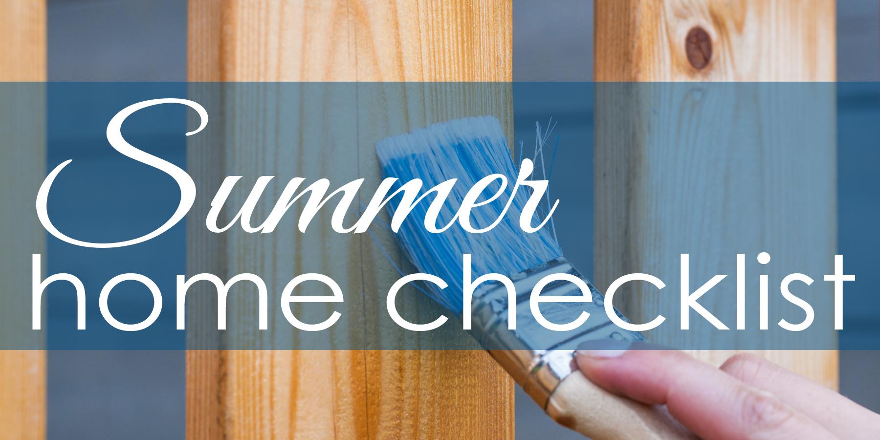 summer home checklist