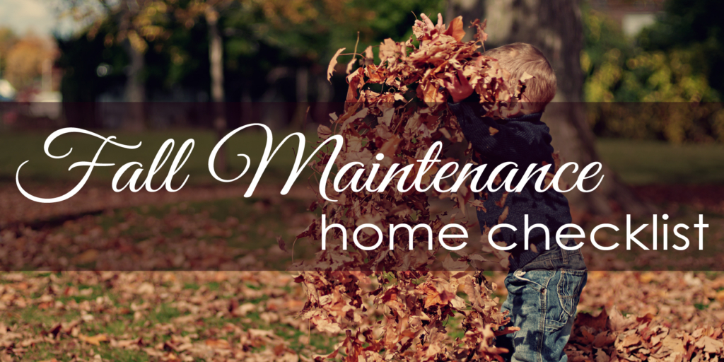 fall maintenance home checklist