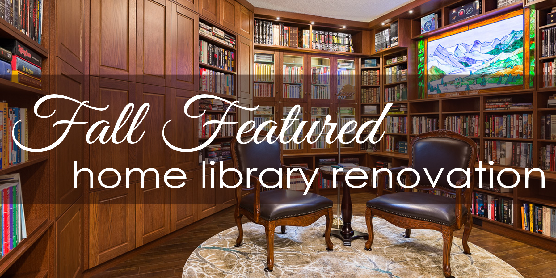 home library renovation calgary